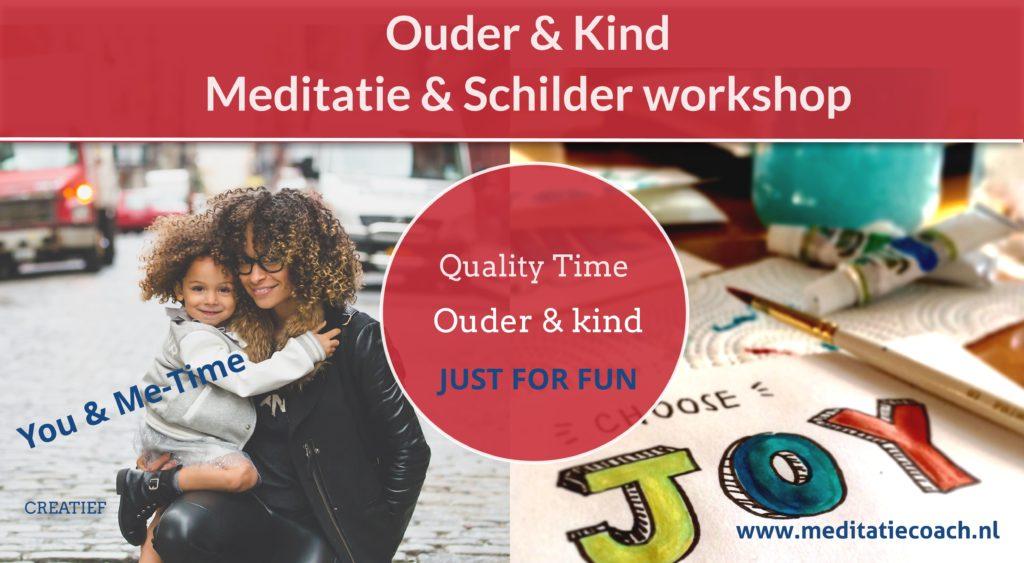 Ouder-kind meditatie schilder workshop
